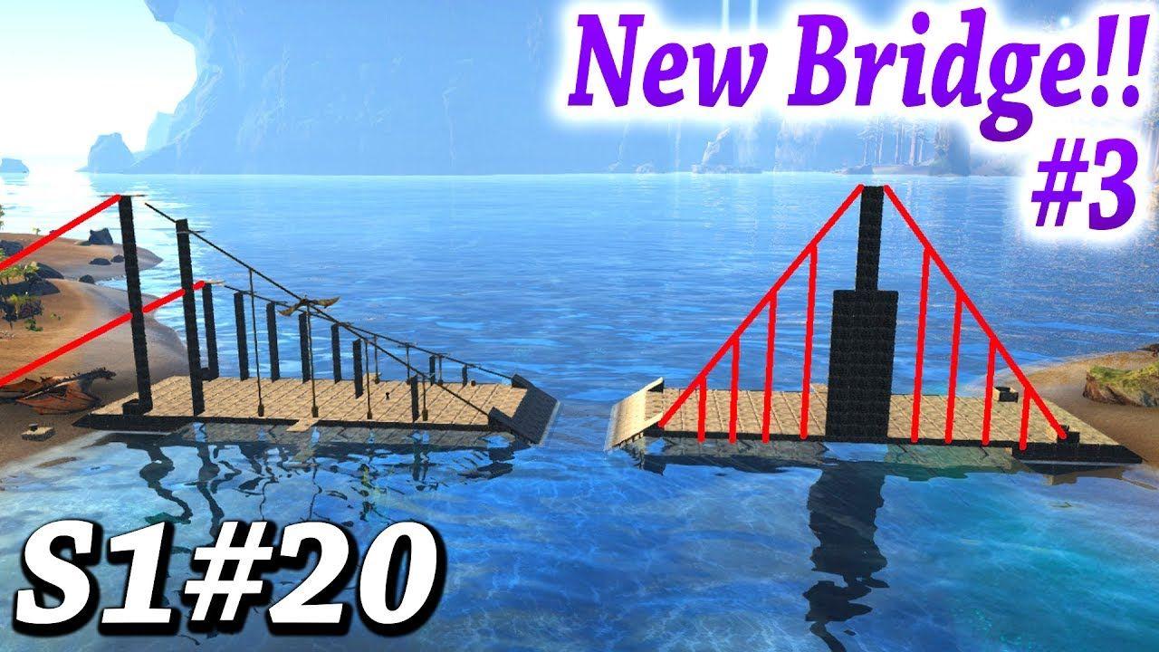 ARK BRIDGE TOWER DESIGNS! NEW BRIDGE BUILDING PROJECT Part 3