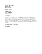 Business Thank You Letter - Sample business thank you letter to ...