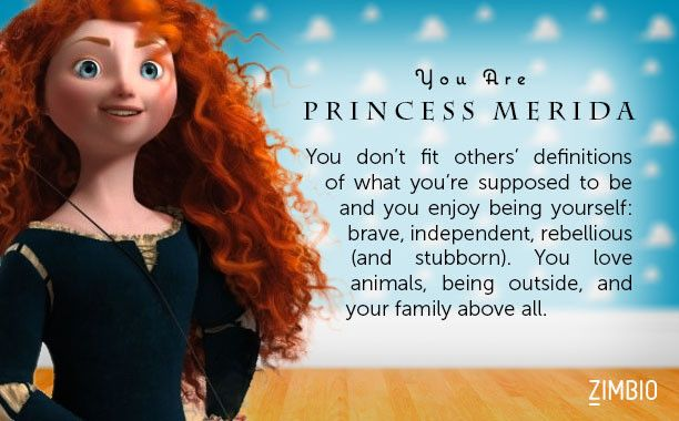 i took zimbio s pixar hero quiz and i m princess merida who are