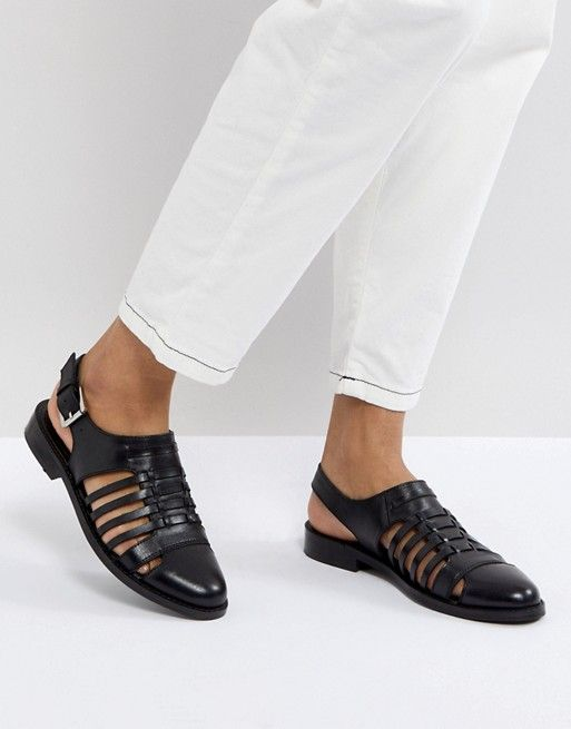 MARYLEBONE Leather Woven Flat Zapatos Zapatos Zapatos Zapatos Zapatos Zapatos 10309c