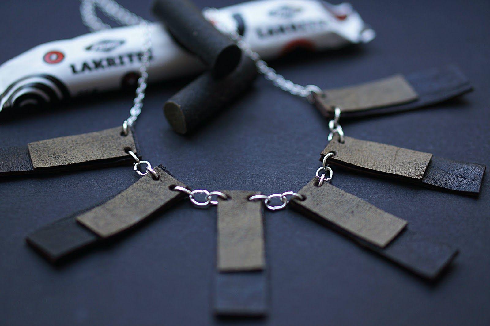 Laku (ligorice), leather necklace