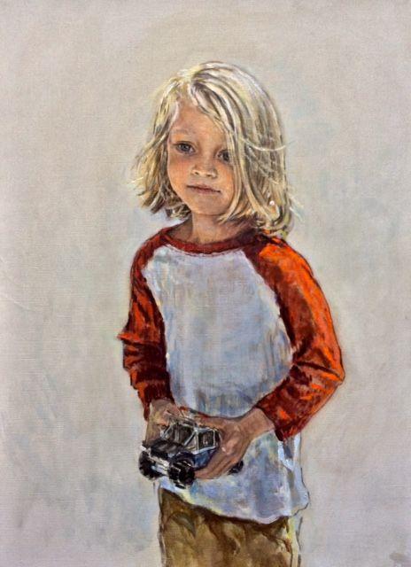 Harrington Mann - Portrait of a Young Boy in Blue