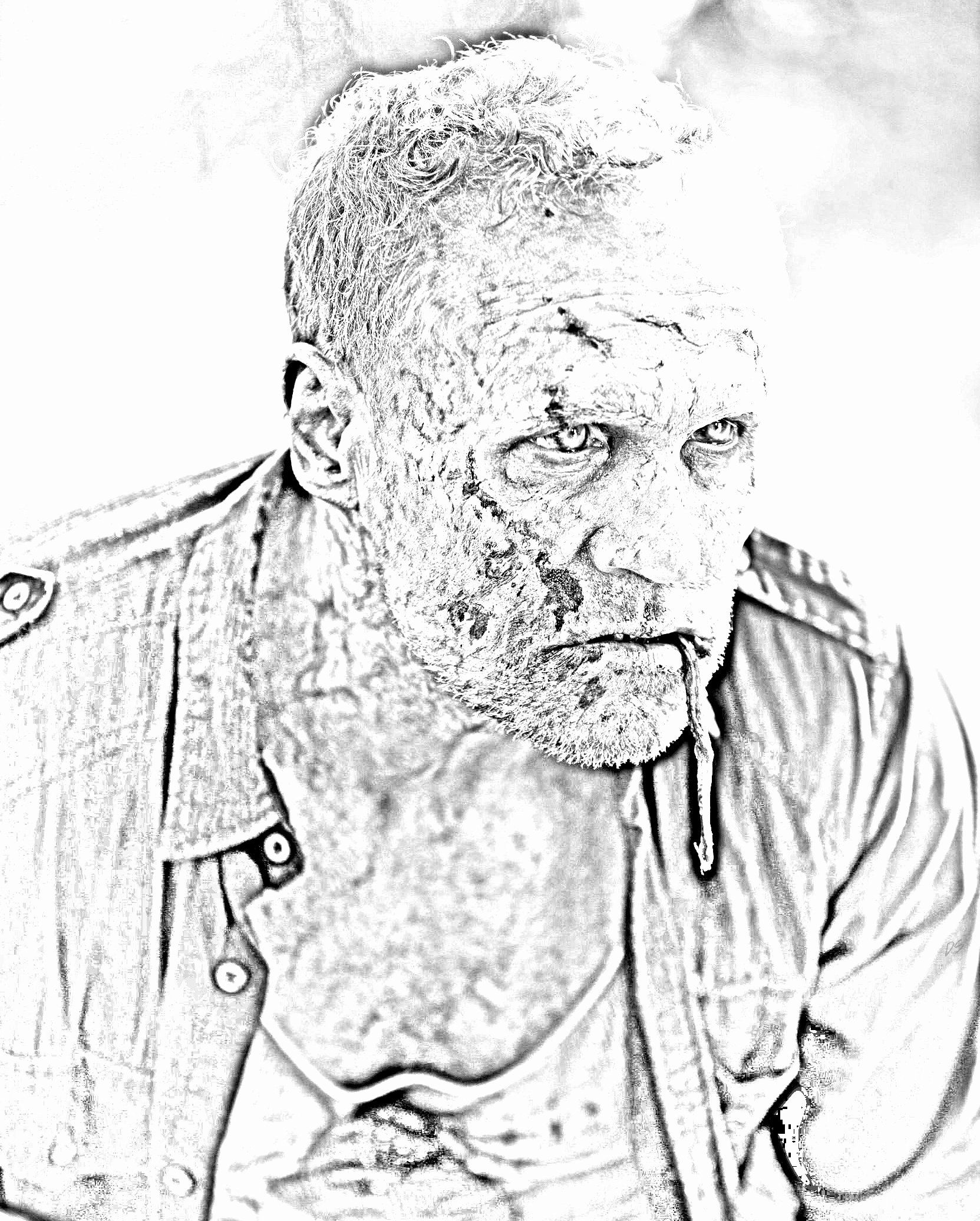 Walking Dead Coloring Book Inspirational The Walking Dead Coloring Pages Merle The Walking Coloring Books The Walking Dead Walking Dead Fan Art