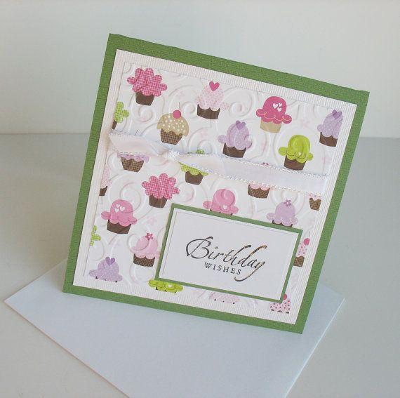 Birthday Greeting Card Handmade Blank Birthday by Sentimentalist, $2.75