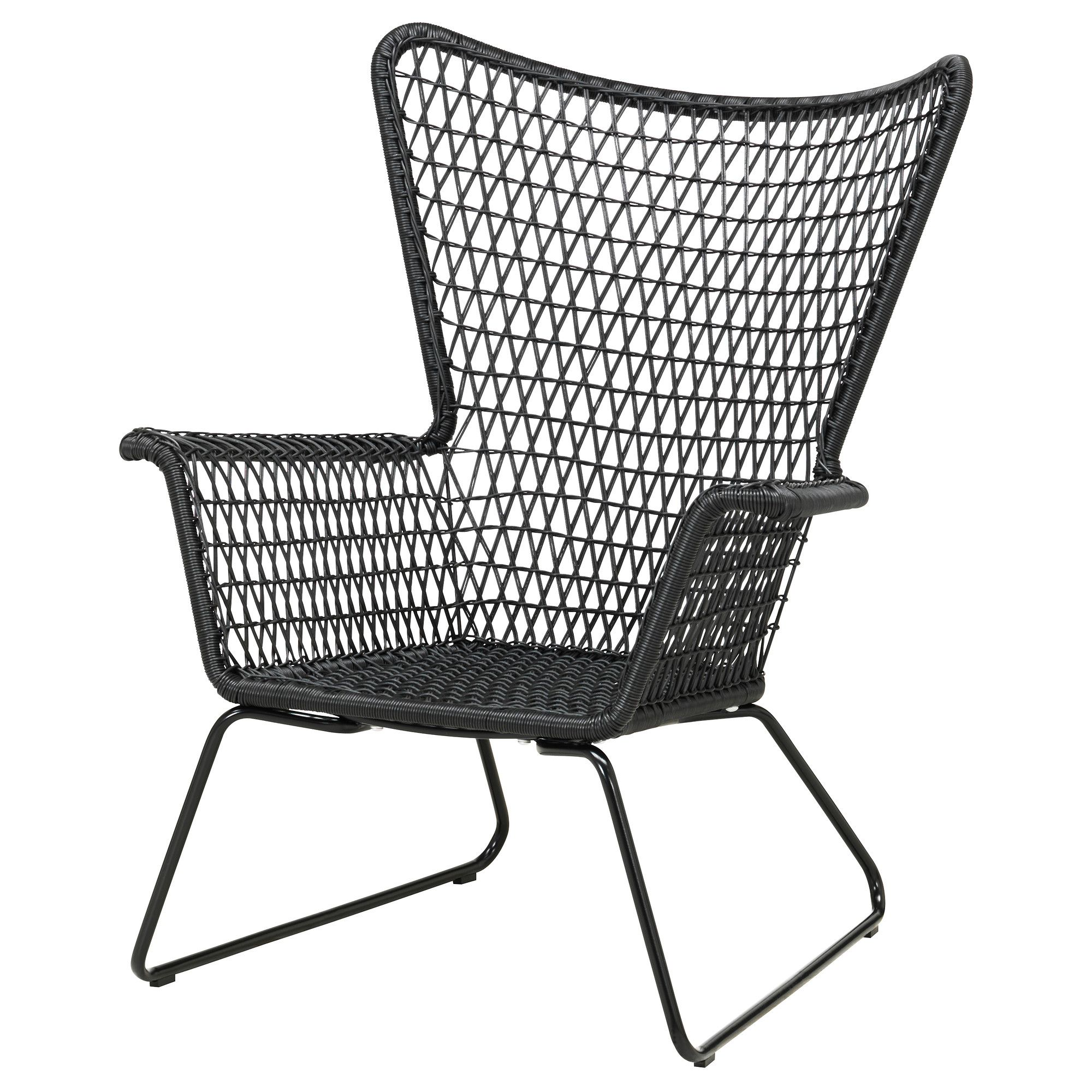 HÖgsten Armchair Black Ikea Rattan Effect Garden Furniture Sofa