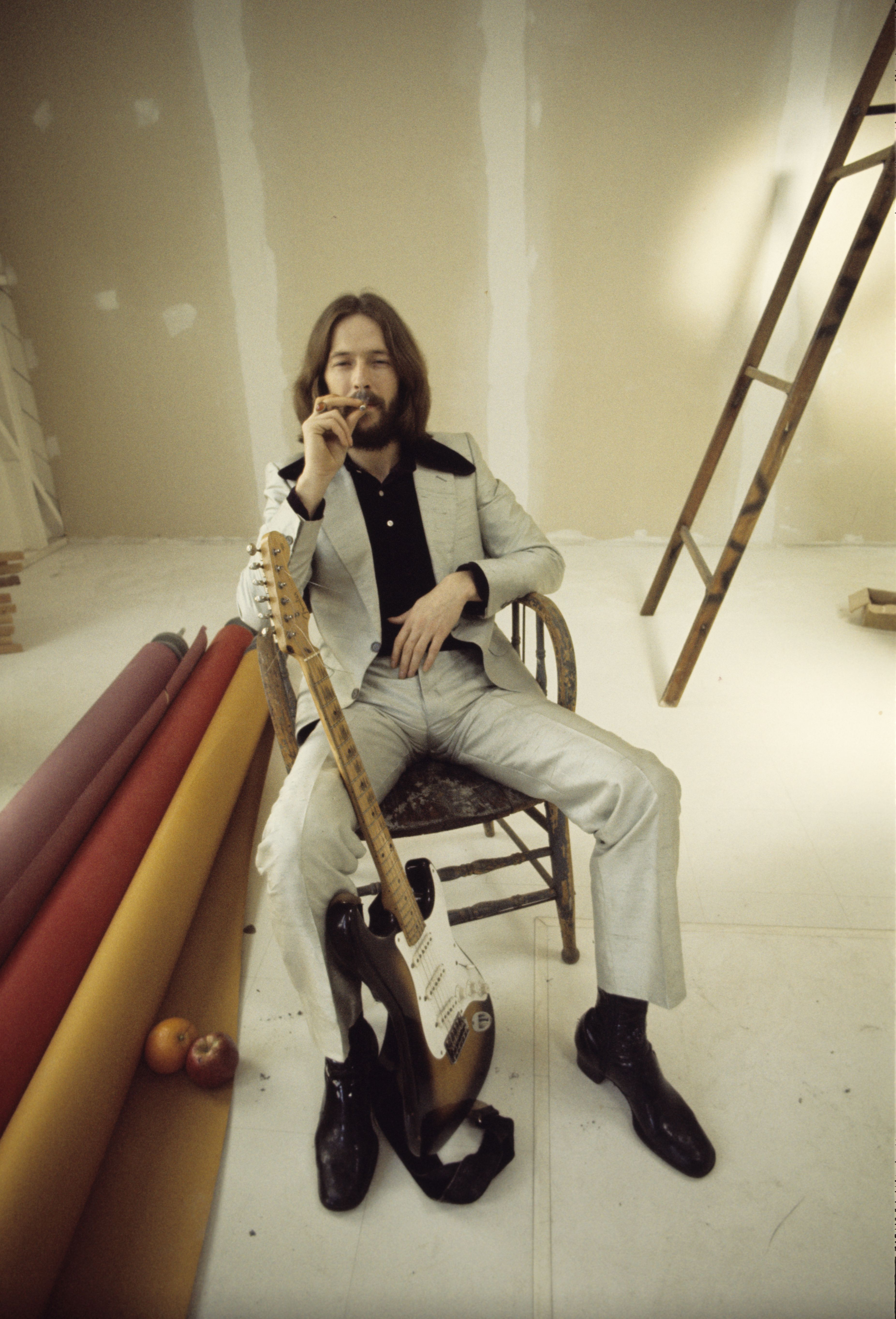Eric Clapton During The Cover Shoot For His Debut Album