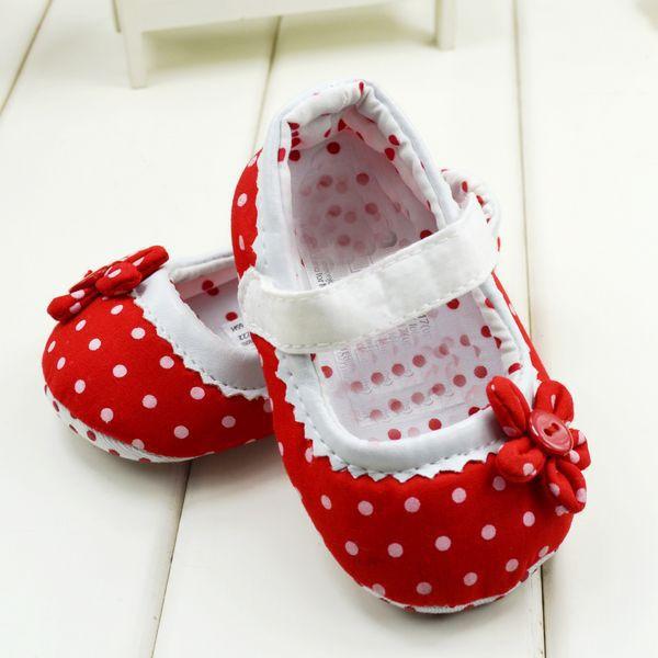 5a0fc761b6 Barato Bonito Dot Flor Meninos Sapatos Meninas Sapatos Fundo Macio Da Criança  Sapatos Sapatos de Bebê