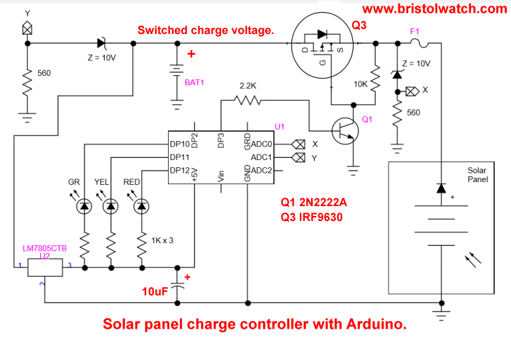 Solar Panel Charge Controller Using Arduino.