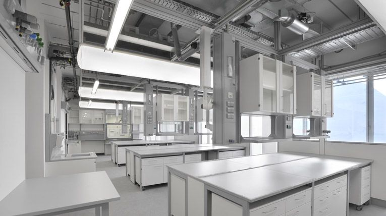 WALDNER service ceiling  laboratory furniture SCALA  lab