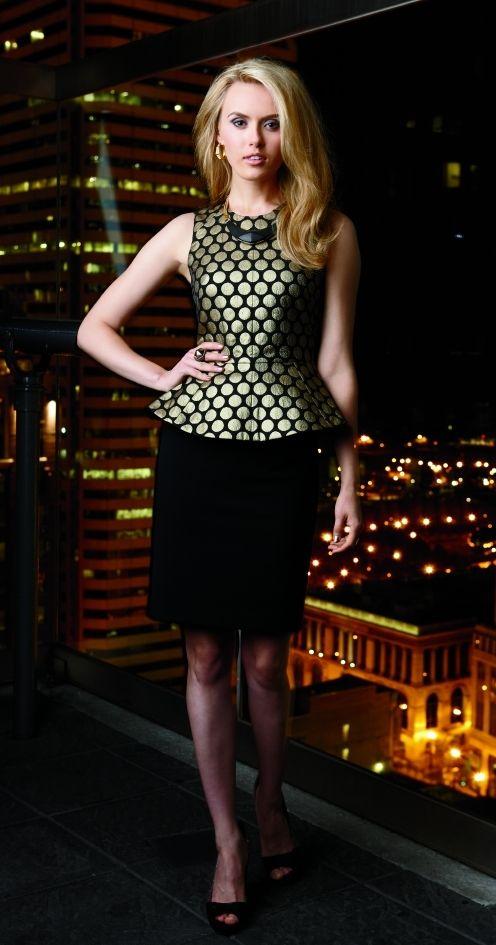 22e4286bb2 VinceCamuto Peplum Top & Pencil Skirt   Trend   Fashion ...