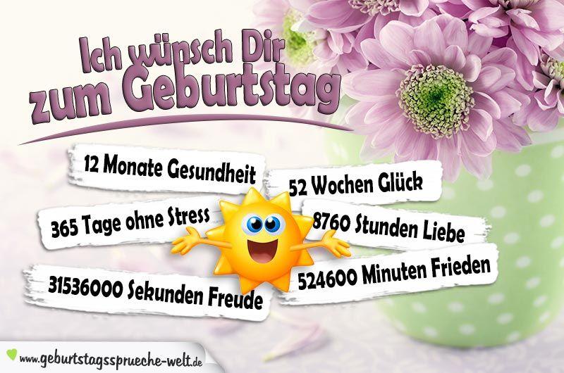 Pin von Heidi Falk auf Geburtstagswünsche ...