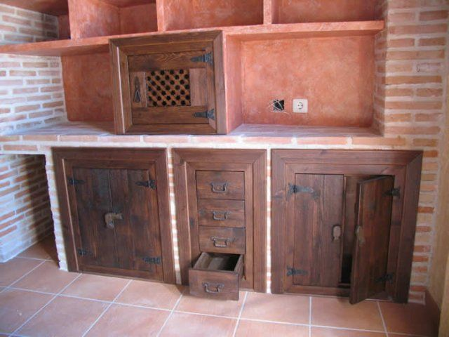 Muebles de cocina para quinchos buscar con google for Muebles cocina rusticos