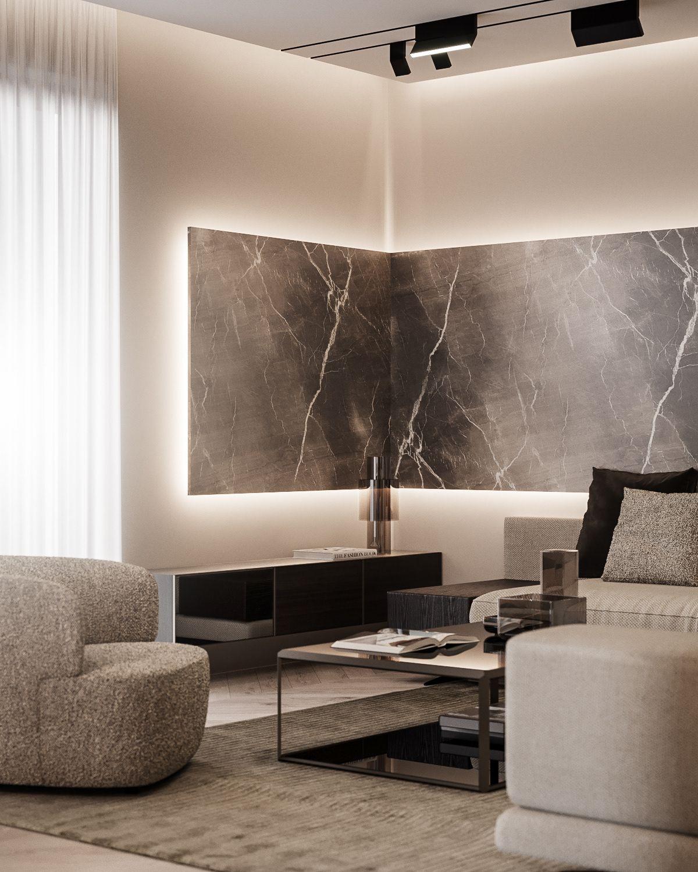 Modern Apartment By Dezest Poliform Molteni Minotti