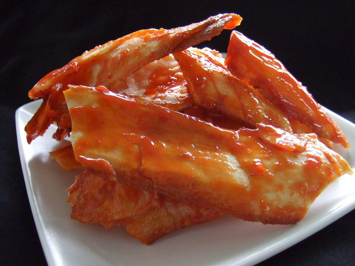 Keripik Sanjay Or Kripik Sanjai Karupuak Sanjai In Minang Is Minangkabau Cassava Kripik Or Chips From Bukittinggi City In West Sumatra In Food Recipes Chips