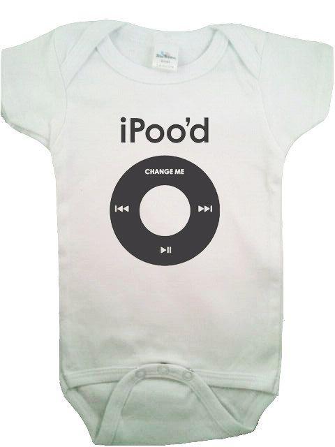 baby ipod onesie.