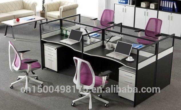 Escritorio de oficina moderna jy 144 imagen mesa de madera for Mesas para oficinas modernas