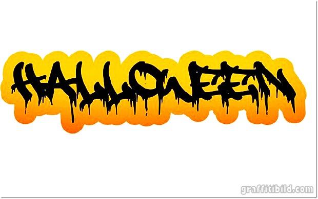 Halloween Graffiti Fonts Halloween Graffiti Letters 15