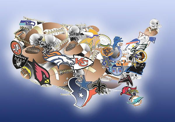 Us Map Photo Collage.Nfl Map Usa Map Map Map Collage Collage