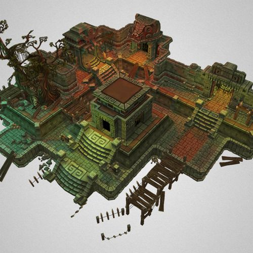 Low Poly 3D Models Low poly, Environment concept art