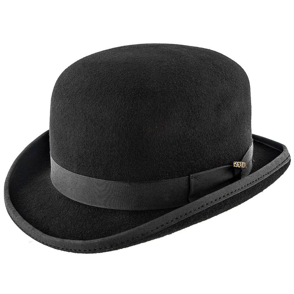 7129631638233 Blackbird - Scala WF507 Black Wool Felt Bowler Hat