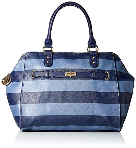Tommy Hilfiger Helen Satchel Bag Navy French Blue One Size Accessorising Brand Name Designer Handbags For Carry Wear Share If You Care Tommy Hilfiger Handbags Satchel Bags Tommy