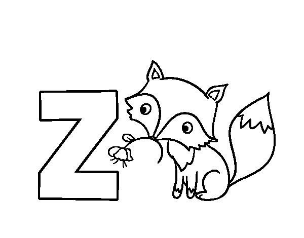 Dibujo del Abecedario  Letra Z para colorear  Dibujos del