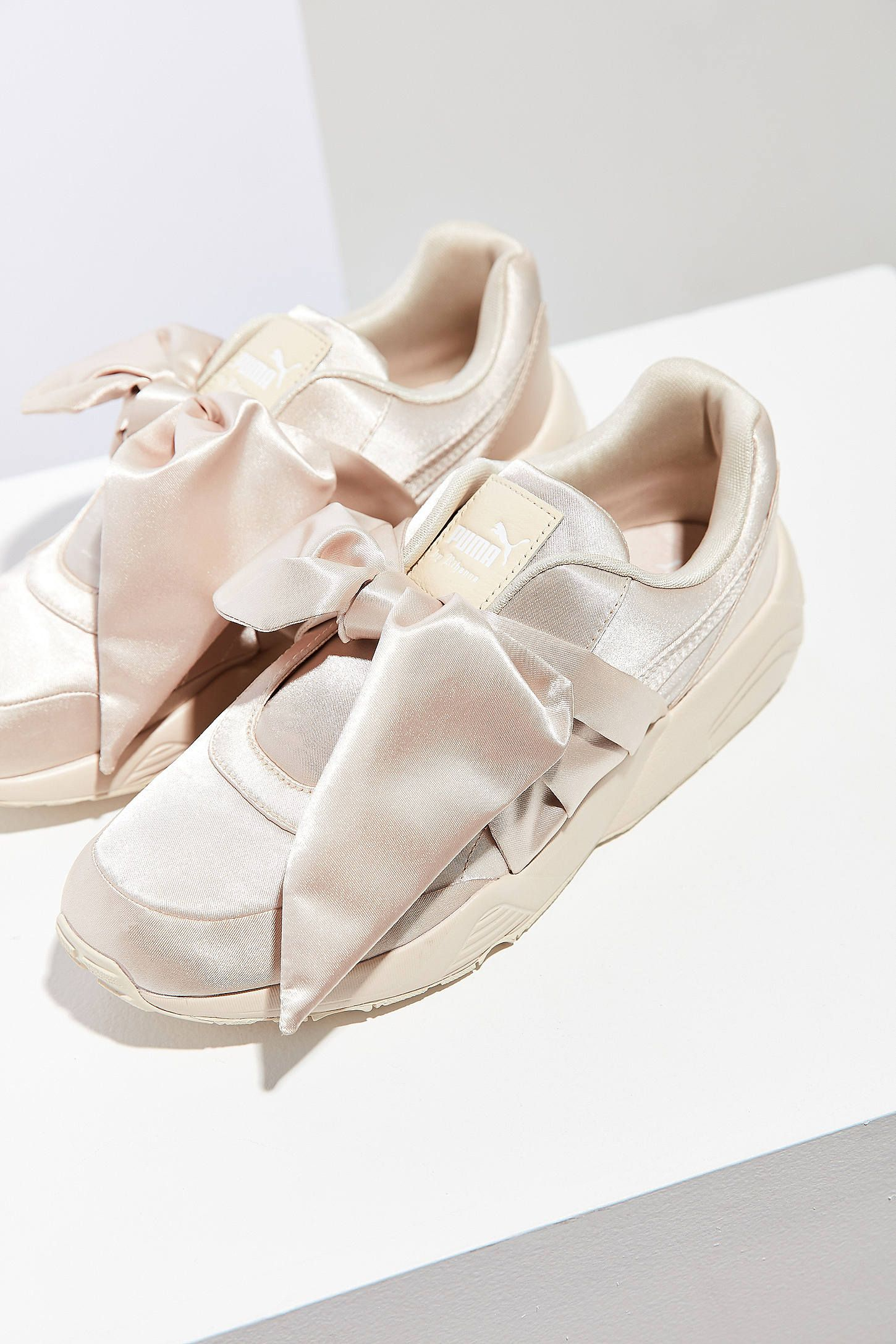Slide View: 1: Puma Fenty by Rihanna Satin Bow Sneaker ...