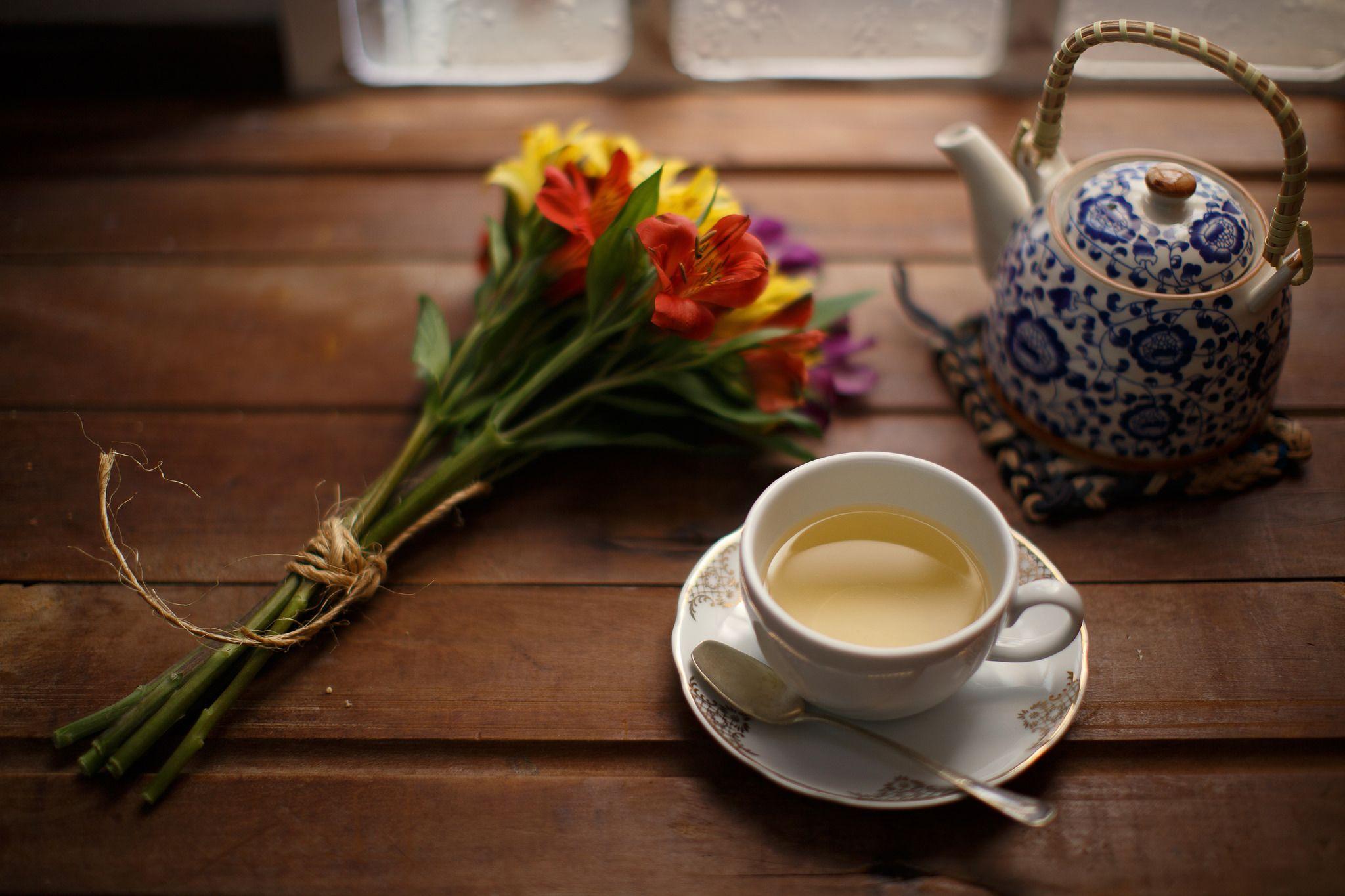 Обои цветы, чай, натюрморт. Разное foto 11