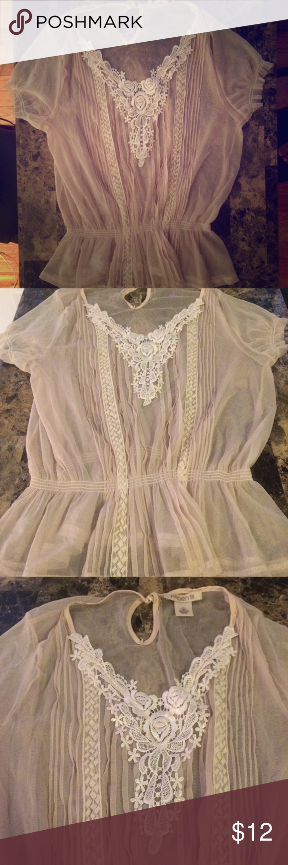 Elegant ARDEN B Sheer Blouse-XS This beautiful delicate blouse by ARDEN B is sure to give class with a touch a chic to any outfit. This is a sheer blouse in excellent condition- like new. Size is XS. Arden B Tops Blouses