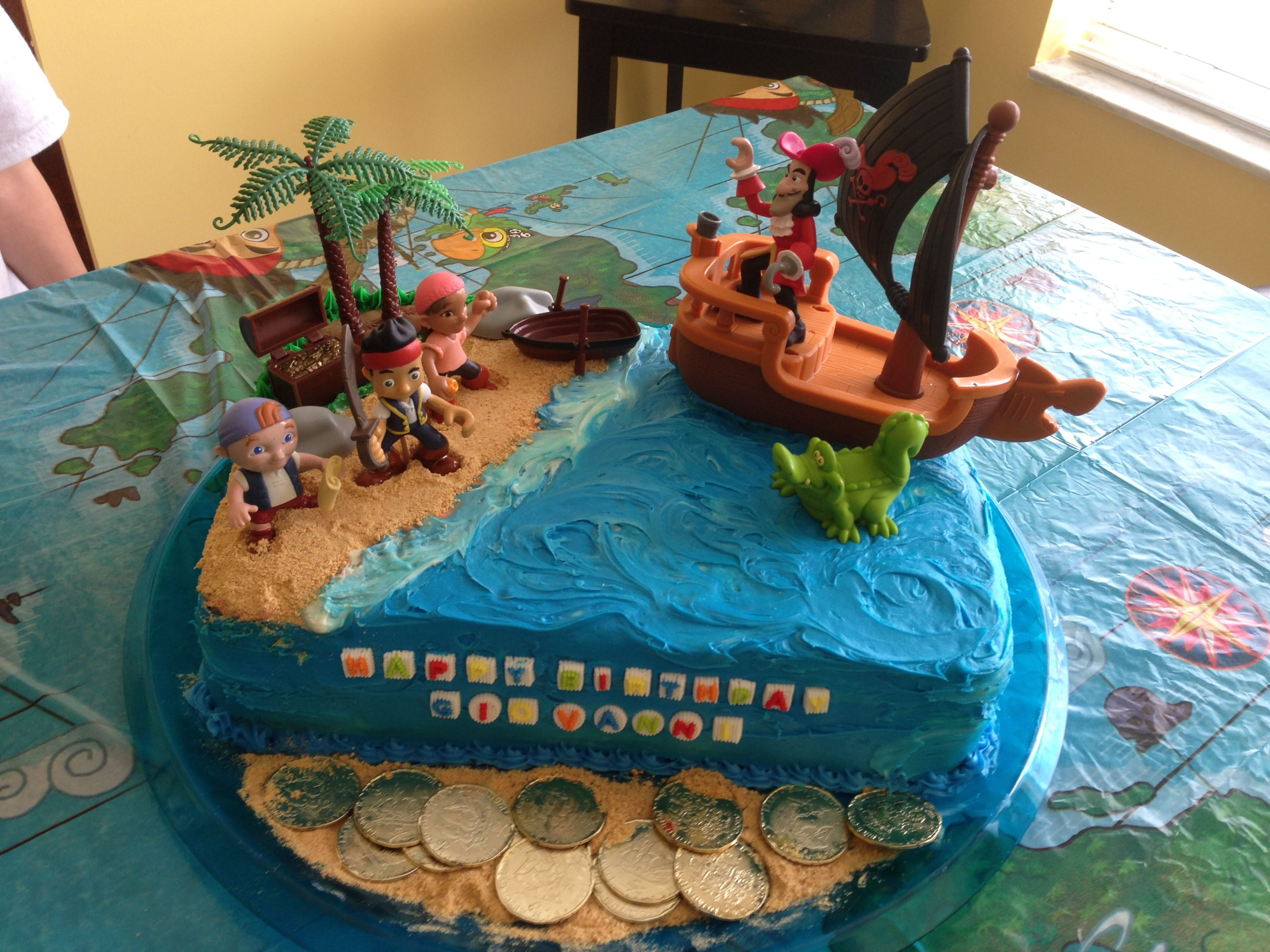 Babys Jake and the Netherlands pirate cake Gianna birthday