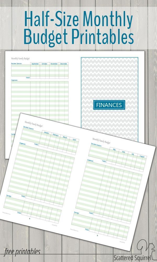 printable family budget planner