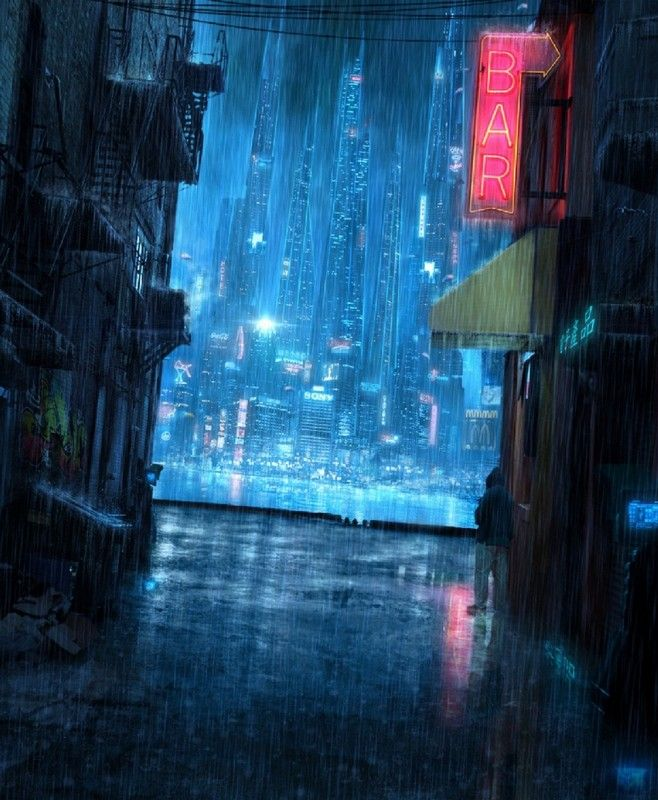 Cyberpunk City, Futuristic City