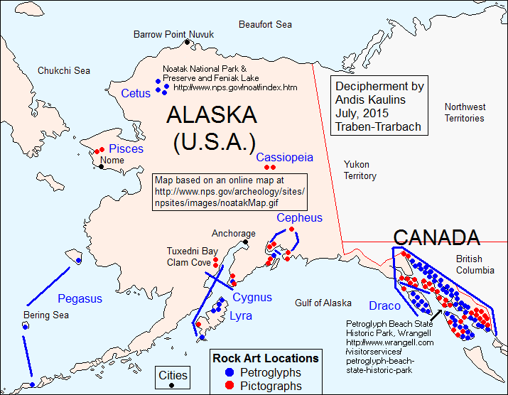 The Distribution Of Rock Art Sites In Alaska USA Is Shown In A - Archaeological sites in the southwest us map