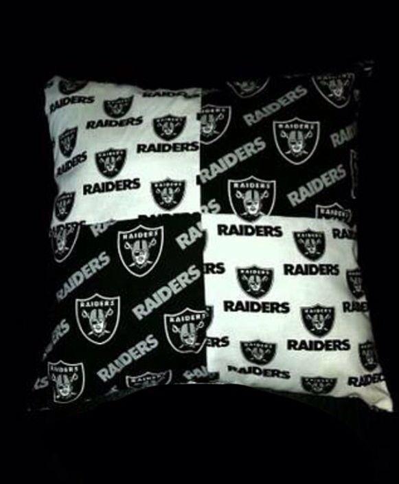 Oakland Raiders Diy Pillow Idea Nfl Raiders