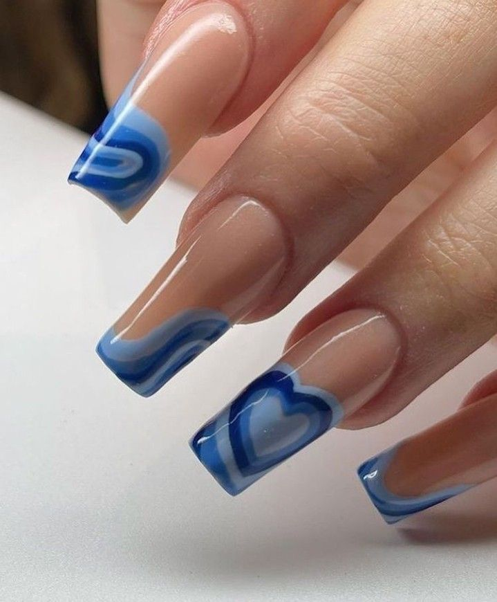 Image about nails in BLUE by 𝚉𝙾𝙴 on We Heart It