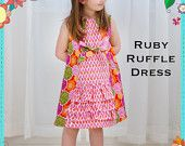 PATTERN: Girls Charlotte Apron Dress - Original Printed Sewing Pattern - Size 6 Month through 8 Years. $12.50, via Etsy.