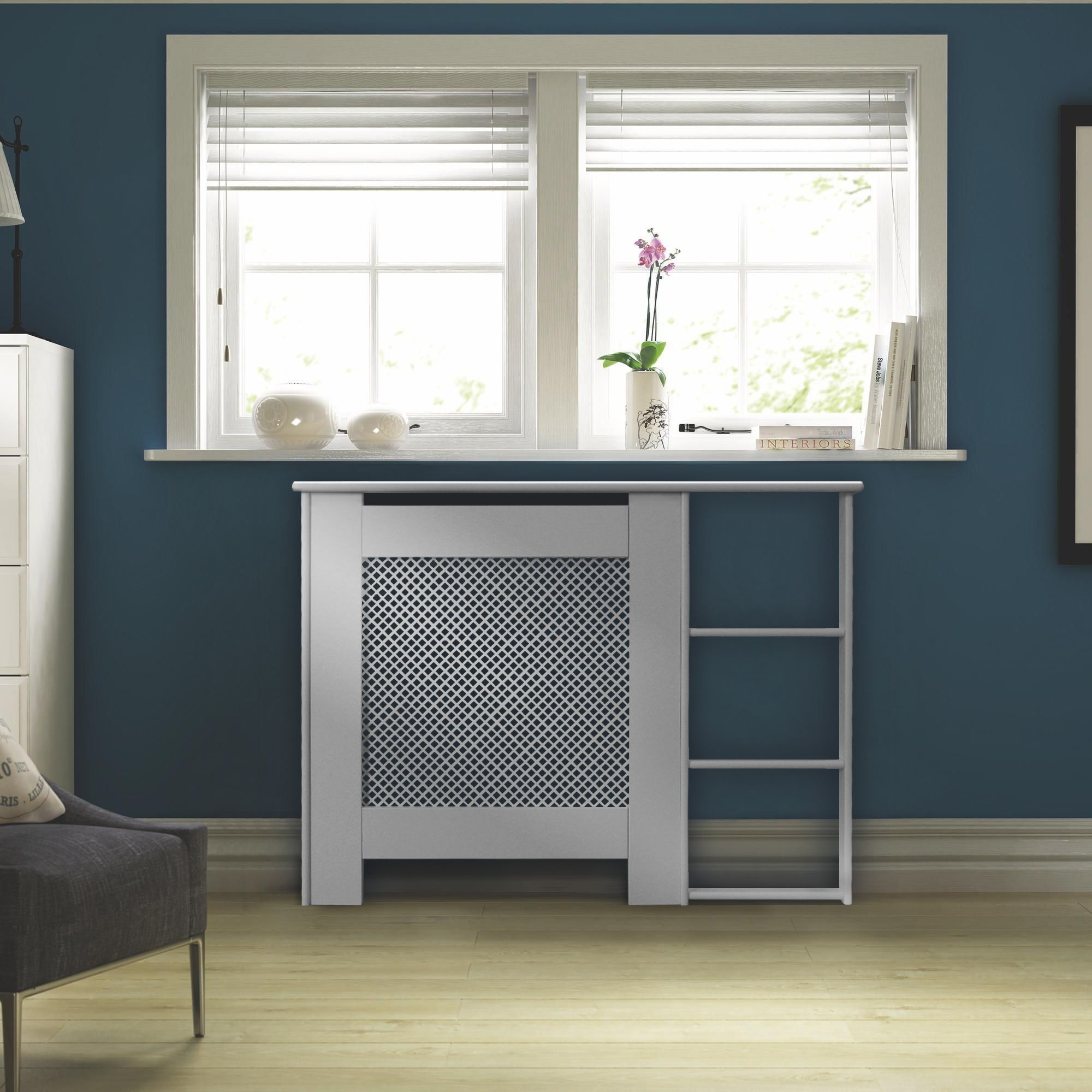 mayfair mini white painted end shelf radiator cover departments rh pinterest com