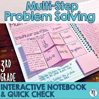 Multi Step Problem Solving Interactive Notebook Quick Check Teks