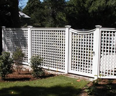 Lattice With Concave Gate The Curved Top Gate Adds
