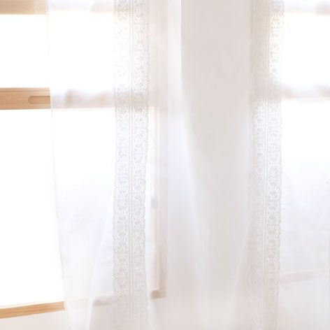 EMBROIDERED LACE CURTAIN