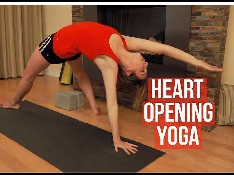 heart opening yoga  yoga for chest shoulder  upper back