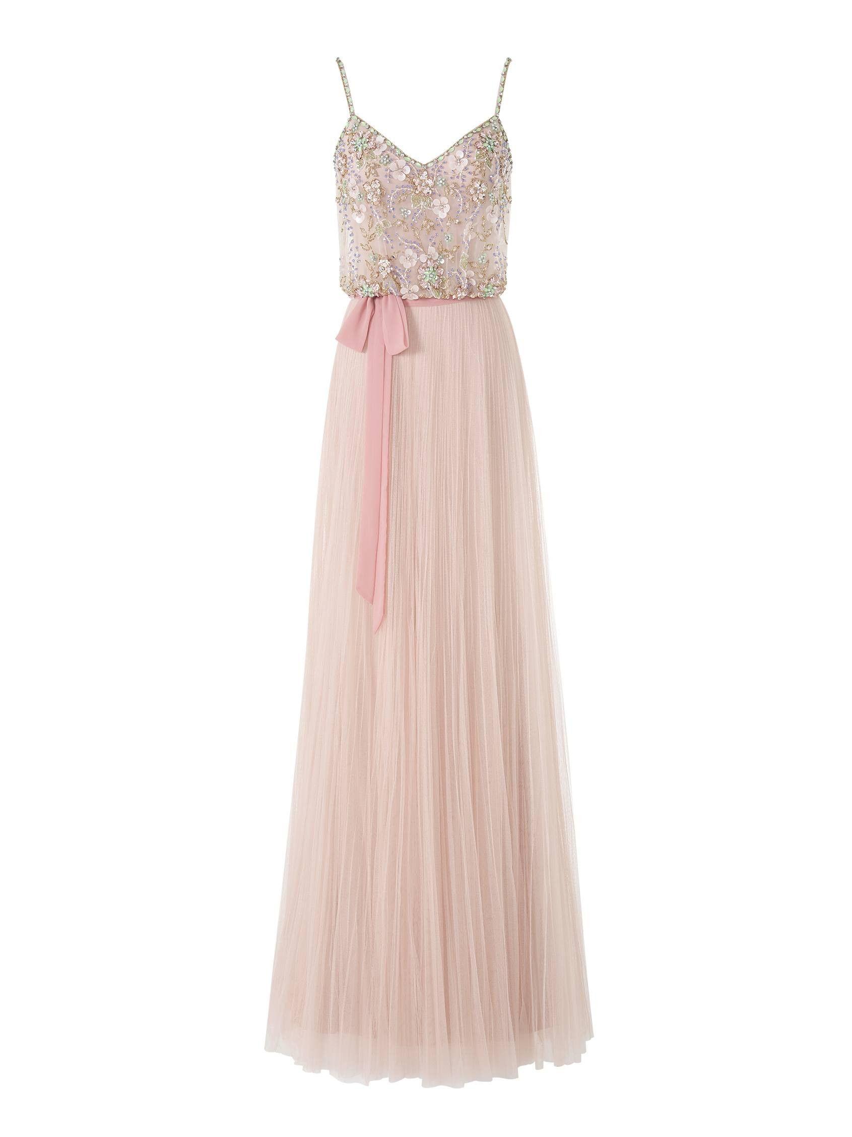 Precioso vestido de fiesta largo de talle a la cintura JOANNA ...