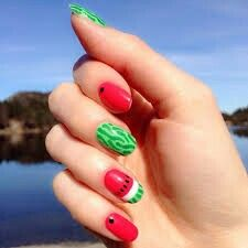 Sara Beauty Corner Watermelon Diy Tools Nail Art Sara Beauty Corner Diy Tropical Nail Art Nail Art Diy