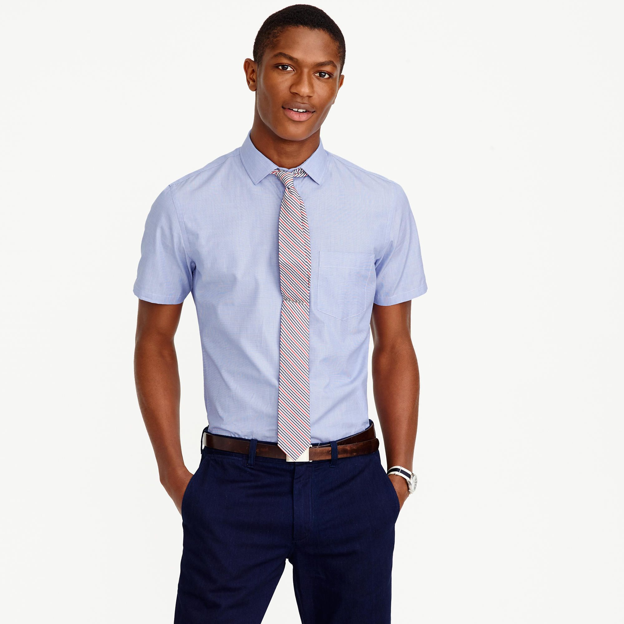 Short Sleeve Dress Shirt Skinny Tie Bcd Tofu House