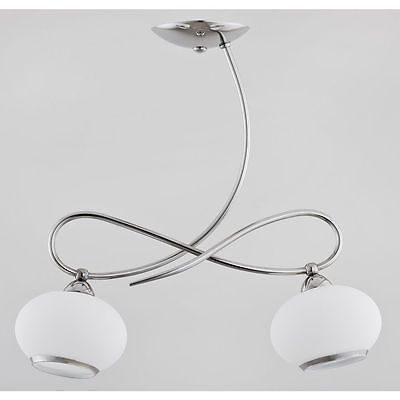 Modern Hanging Pendant Lamp Light Chandelier 2x40W E14 PROTA