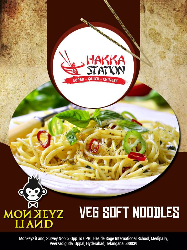 Great time to visit @MonkeyzILand to have veg soft #noodles