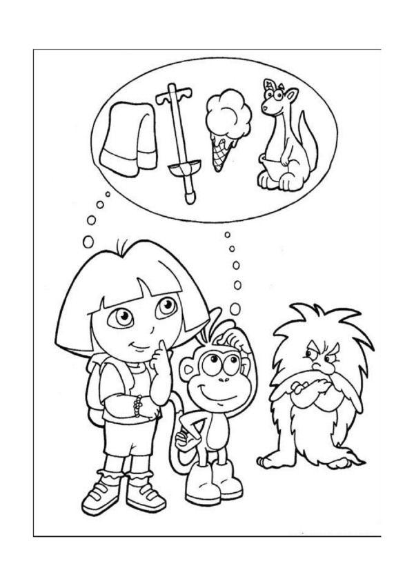 desenhos para pintar dora a exploradora 22 desenhos para colorir