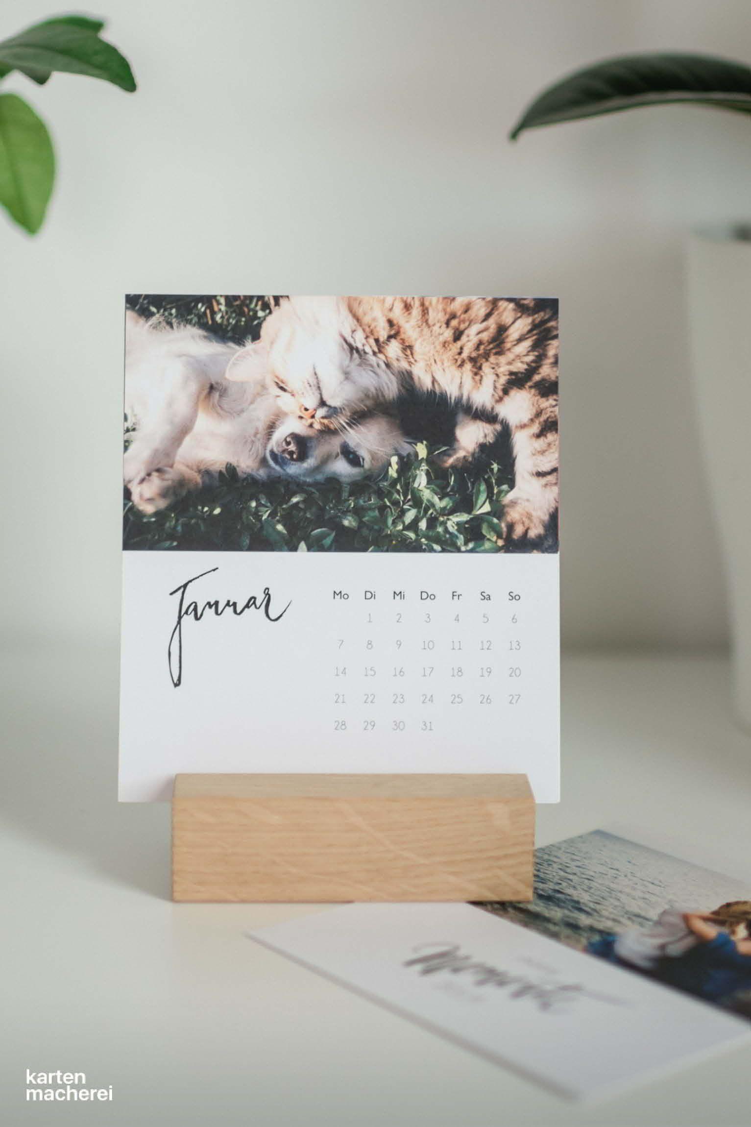 Tischkalender Modern Lettering Fotokalender Kalender Gestalten Selbstgemachter Kalender