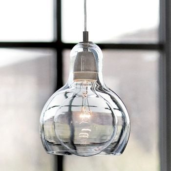 Large bulb combined with upper bottle shaped hand blown glass mini explore glass pendant light glass pendants and more aloadofball Choice Image