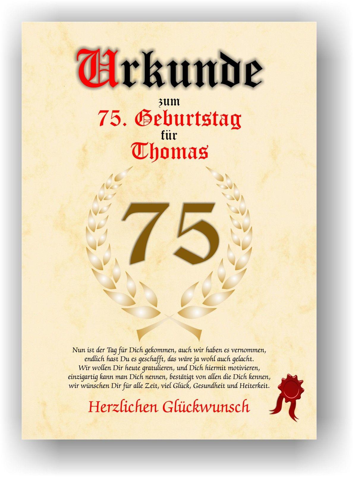Geburtstagswünsche 75 Geburtstag